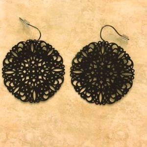 Express Black Earrings